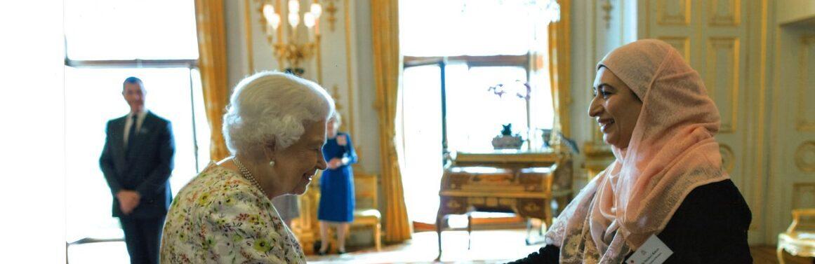 Nighat Khan meeting HRH the Queen