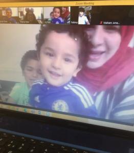 mum and children zoom session